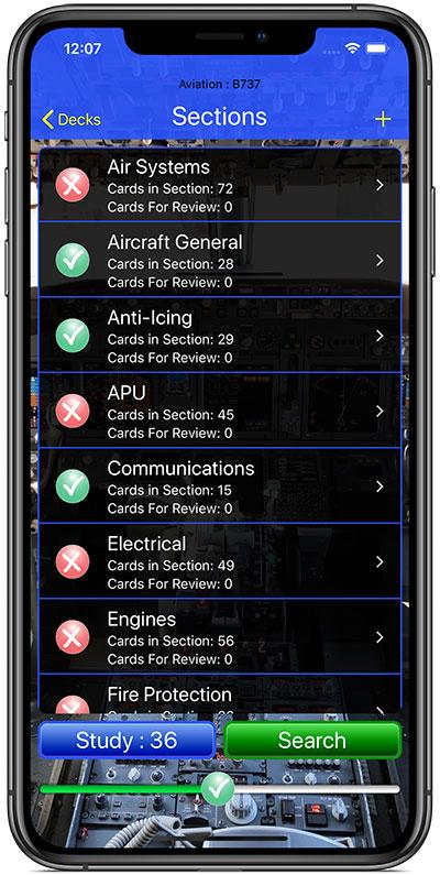 iPilot Flash Card Training App on iPhone, iPad, iPod Touch